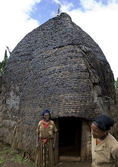 Dorze house, Ethiopia #Africa #African #Dorze #Ethiopia #Ethiopian