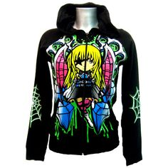 Evil Fairy Revenge Hoody Black | Gothic Clothing | Emo clothing |... ❤ liked on Polyvore ( Get your goth on with gothic punk clothing - a favorite repin of www.vipfashionaustralia.com )