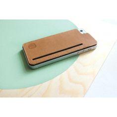 tag'bag - iPhone 5 Cover aus braunem Leder - VANDEBAG