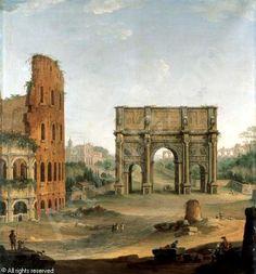 JOLI DE DIPI Antonio,Rome, a capriccio view of the Colosseum and the Arch of Constantine,Sotheby's,London