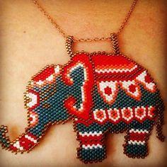 Bereket şans güç getirmesi dileğiyle ☺ #motifdemagestels thank you #miyuki #miyukibeads #miyukidelica #kolye #kolyemodelleri #necklace #elephant #fil #handmadejewelry #handmade #fashion #fashionblogger #peyote #brickstitch #boncuk #perles #like4like #likefollow #like4follow #likeforlike #asia