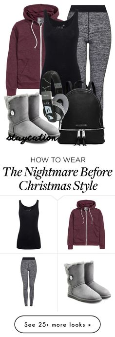"""""""Staycation Style"""" by deedee-pekarik on Polyvore featuring Topshop, Juvia, MICHAEL Michael Kors, UGG Australia, casualoutfit and staycation"""