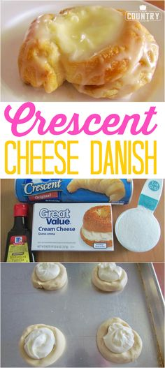 Crescent Roll Cheese Danishes The Country Cook dessert Crescent Roll Cheese Danishes The Country Cook dessert Arin Borton arinhank Food Easy Crescent Cheese Danish recipe from The nbsp hellip Cheese packaging Brownie Desserts, Köstliche Desserts, Delicious Desserts, Dessert Recipes, Yummy Food, Coconut Dessert, Oreo Dessert, Crescent Cheese Danish Recipe, Croissant Danish Recipe
