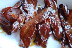 The best and only way to eat bacon!  Sugared bacon  @yourhomebasedmom.com  #bacon, #breakfast