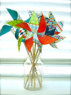 pinwheels!  now how to make them strong enough for wind in October....
