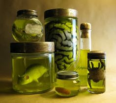 DIY Halloween specimen jars