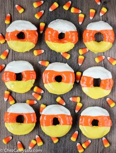 Candy Corn Donuts -