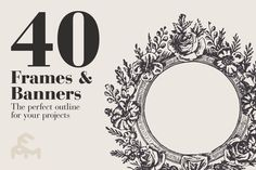 40 Frames & Banners by MARTINI Type Designer on Creative Market