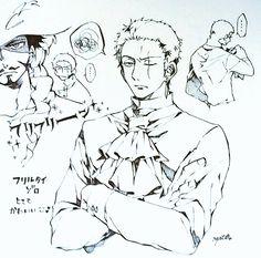 One Piece, Roronoa Zoro, Mihawk