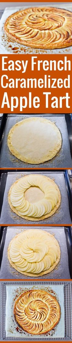 A perfect, simple recipe for a French caramelized apple tart.