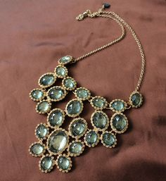 High Quality Blue Color Crystal Multi-layers Necklace for Women FD60 $40.00