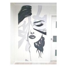 Diy Wall Painting, Wall Art, Office Mural, Modern Pop Art, Wall Drawing, Afro Art, Beauty Art, Paint Designs, Painting Techniques