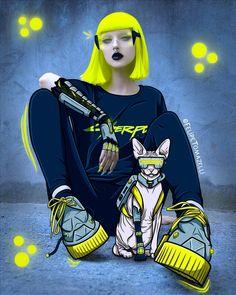 #CYBERPUNK #ILLUSTRATION #STYLE #NEON Photo Illustration, Cyberpunk, Princess Zelda, Neon, Fictional Characters, Style, Art, Swag, Art Background