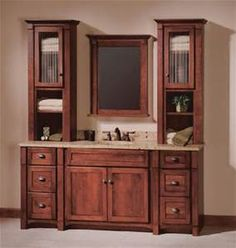 "Custom Bathroom Vanities Vaughan hayden 36"" vanity with drawers in cerused flat cut oak 