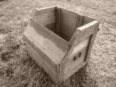 This is a tool box made by my late father-in-law. We plan to clean it up and use it to store kindling next to the fireplace.