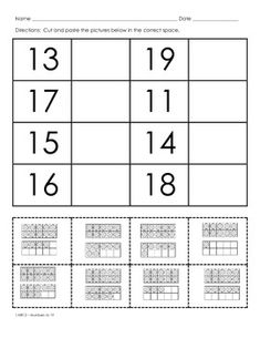 Place Value - Teen Numbers