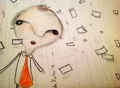 el contador. Lapiz sobre papel.  2012 - Nicolas da Rocha