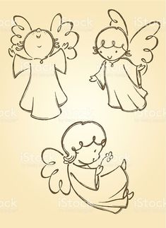 Angel Sketch, Angel Drawing, Drawing Hands, Engel Illustration, Illustration Vector, Vector Art, Christmas Rock, Christmas Angels, Christmas Crafts