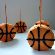 Oreos dipped in orange chocolate - Basketball deliciousness! March Madness ready!