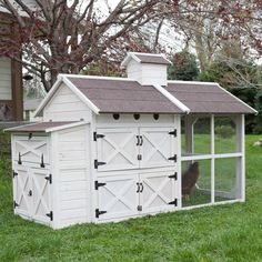 Boomer & George Cottage Chicken Coop - The charming, country-style Boomer & George Cottage Chicken Coop provides a warm, secure, and enticing home for your farmhouse chickens. Sturdily ...