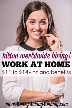 Wanting a work at home job that offers growth, great pay and benefits? Give Hilton Worldwide a look! Get all the details on pay, benefits, training and applying now! MoneyMakingMommy.com