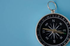 compass on a blue background
