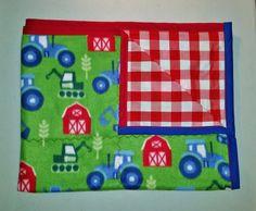 Handmade Farm Theme Blanket, Throw.   Blanket, Throw.  For adult or child by PearlsHomespun on Etsy