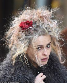 Helena Bonham Carter, Helen Bonham, Curly Hair Updo, Curly Hair Styles, Tim Burton, British Actresses, Actors & Actresses, Heroes Actors, Peter And The Starcatcher