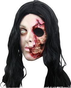 Ce masque terrifiant sera parfait pour compléter un costume de revenante à l'occasion d'une zombie walk ou pour Halloween. #zombie #mortvivant