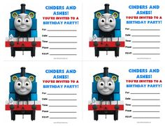 Thomas the Train theme birthday party a 2 year old little boy A