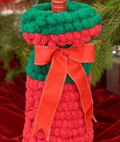Crochet Christmas Bottle Cover
