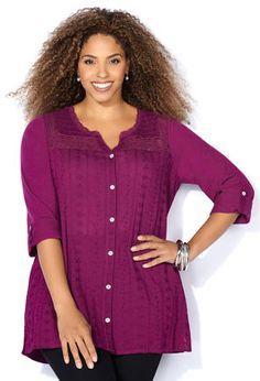 75137861b38 Womens Long Plus Size Shirt Blouse from Avenue