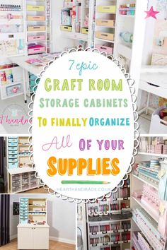 7 Craft Storage Cabinet Ideas For Your Fantasy Craft Space