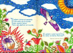 "An interesting illustration of a quote from Hermann Hesse's ""Demian"" in Spanish :-)"
