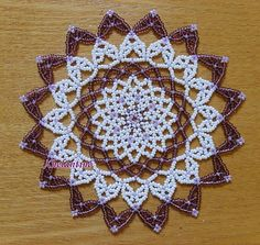 free seed bead patterns for doilies Beaded Flowers Patterns, Seed Bead Patterns, Beading Patterns, Crochet Patterns, Pop Tab Crafts, Bead Crafts, Hama Beads, Seed Beads, Weaving Projects