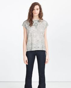 PRINTED T-SHIRT-View All-T-SHIRTS-WOMAN | ZARA United States