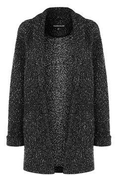 Jackets & Coats   Black TWEED FLECK COATIGAN   Warehouse
