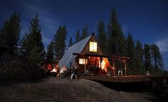 A-frame cabin up in the Piute Mountains, California. Photo by Aaron Chervenak.