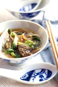 Chinese Beef Noodle Soup - Erren's Kitchen - Wonderfully fragrant and deliciously healthy, this simple soup makes the perfect warming meal.