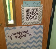 Classroom QR code on the door to brag on accomplishments. Student Voice, Site Visit, School District, Charleston, Classroom, Coding, Learning, Frame, Class Room