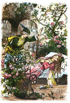 Sleeping Beauty -- Paul Meyerheim -- Fairytale Illustration