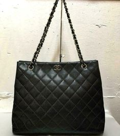 3f0751ba50cf Authentic Chanel Caviar Skin Chain Shoulder Tote Bag  fashion  clothing   shoes  accessories