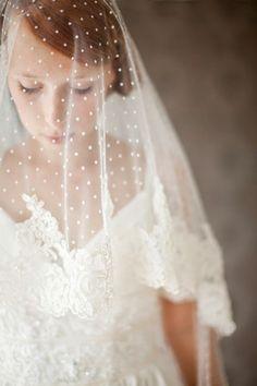 Bridal Veil Polka dot veil lace Circular lace veil by sibodesigns, Wedding Veils, Wedding Bride, Dream Wedding, Wedding Day, Wedding Dresses, Bridal Veils, Gold Wedding, Lace Veils, Wedding Vintage