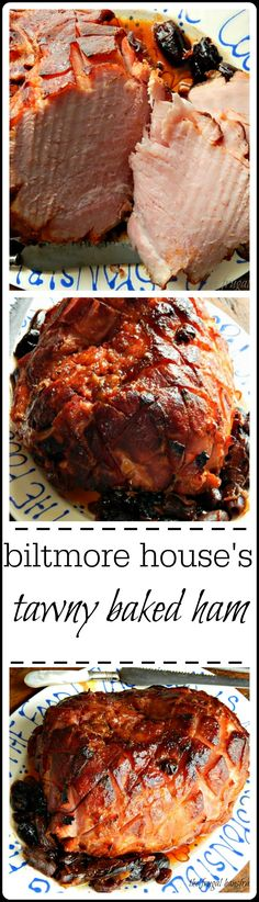 Tawny Baked Ham - recipe from Biltmore House near Asheville, that glaze is crispy caramelized perfection - like ham candy and the sauce - it will just about break your heart it's so good