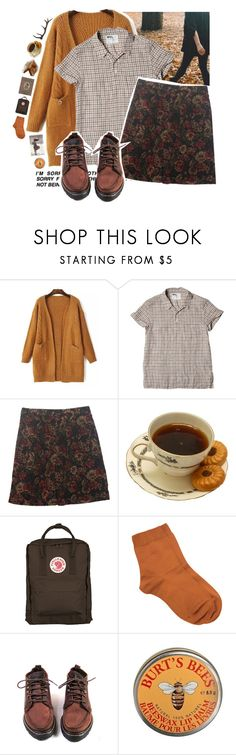 """the elk and the mouse"" by cloudxd-thoughts ❤ liked on Polyvore featuring Talbots, OUTRAGE, Fjällräven, Maria La Rosa, Burt's Bees and Antler"