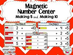 This activity is designed to help students practice making 5 and making 10. Students will be counting dots or using a number line to complete each addition number sentences.