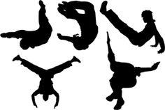 Downloadable vector art silhouettes: horses, dancers, athletes etc.