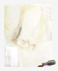 Monika Baer  Untitled, 2014  Drawing, collage on paper