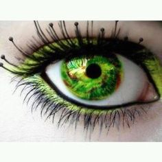 lime green contacts