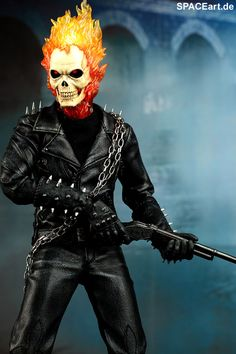 Ghost Rider: Ghost Rider with Hellcycle - Deluxe Figur, Fertig-Modell ... http://spaceart.de/produkte/gsr001.php